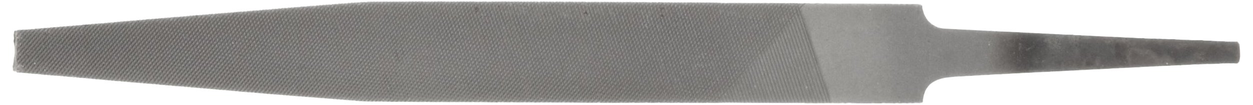 PFERD Flat Hand File, American Pattern, Double Cut, Rectangular, Medium, 12'' Length, 1-5/32'' Width, 9/32'' Thickness