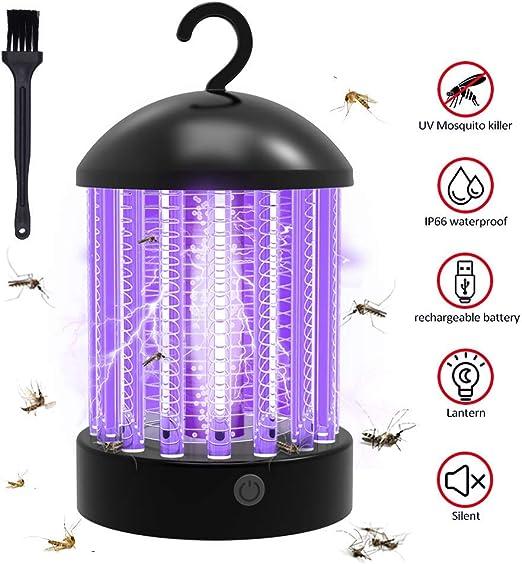 Lámpara Antimosquitos Electrico, luz UV Lámpara Repelente Zapper de Mosquitos Mosca, 2 en 1 Lámpara anti-insectos resistente al agua Luz para acampar para oficinas interiores, jardín, cocina y dormitorio: Amazon.es: Jardín