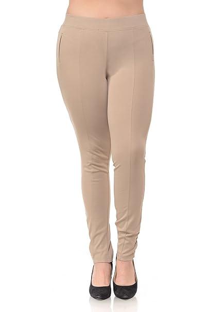 f95e58e08c Clinamen Clothing Womens Plus Size Super Stretch Skinny Pants(P106X)  (XXXLarge