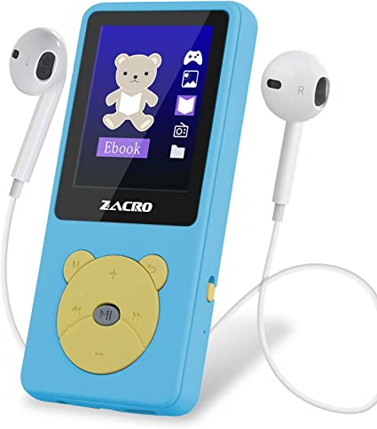 Zacro Reproductor MP3 para Niño 8GB,Reproductor MP3 Niño Pantalla ...