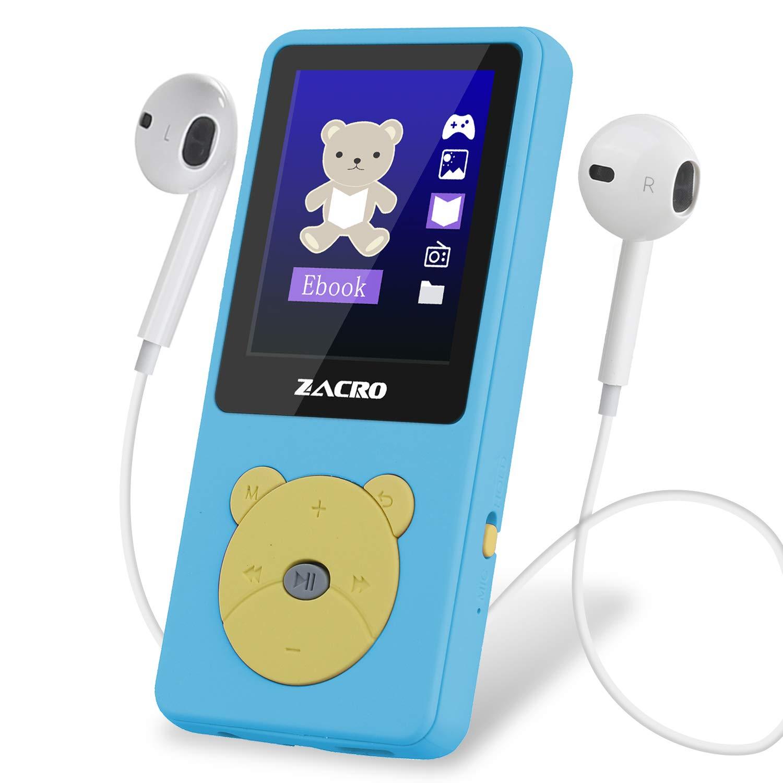 Zacro Reproductor MP3 para Niño 8GB,Reproductor MP3 Niño Pantalla 1.8