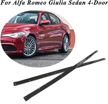 MCARCAR KIT Side Skirts fits Alfa Romeo Giulia Base /& Sport Sedan 2015-2018 Add-on Carbon Fiber CF Under Door Rocker Panels Valance Extension Lip
