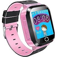 Reloj para Niños 1.44'' Niños Inteligente Relojes GPS Tracker Pulsera reloj inteligente SOS Pantalla Táctil Kid Safe…