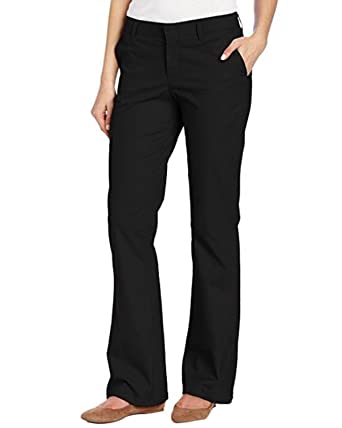 7bcf78500341d Kidsform Women Stretch Twill Pants Classic Elasticated Waist Trousers  Office Casual Comfy Bottoms Size 8-