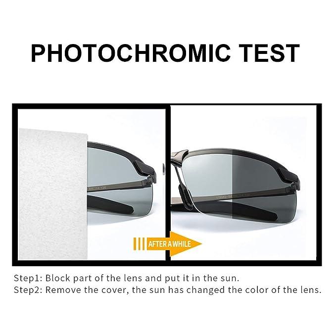 aa9175c3ab TJUTR Gafas de Sol Hombre Rectangulares Photochromic Polarizadas Lentes  Grises Antideslumbrante -100% Protección UVA UVB (Gris/Gris):  Amazon.com.mx: Ropa, ...