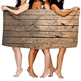 Cloud Up Wood Wallpapers Microfiber Fast Drying Bath Towels Swimming Camping Towel, Adults Spa Bath Towel 31x51 Inches