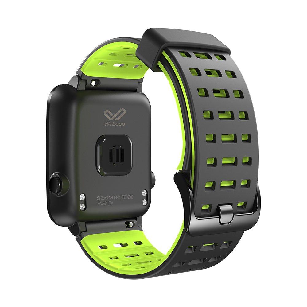 Reloj inteligente deportivo con Bluetooth, impermeable, correa de silicona, pantalla táctil, control del ritmo cardíaco, con GPS, podómetro, monitor ...