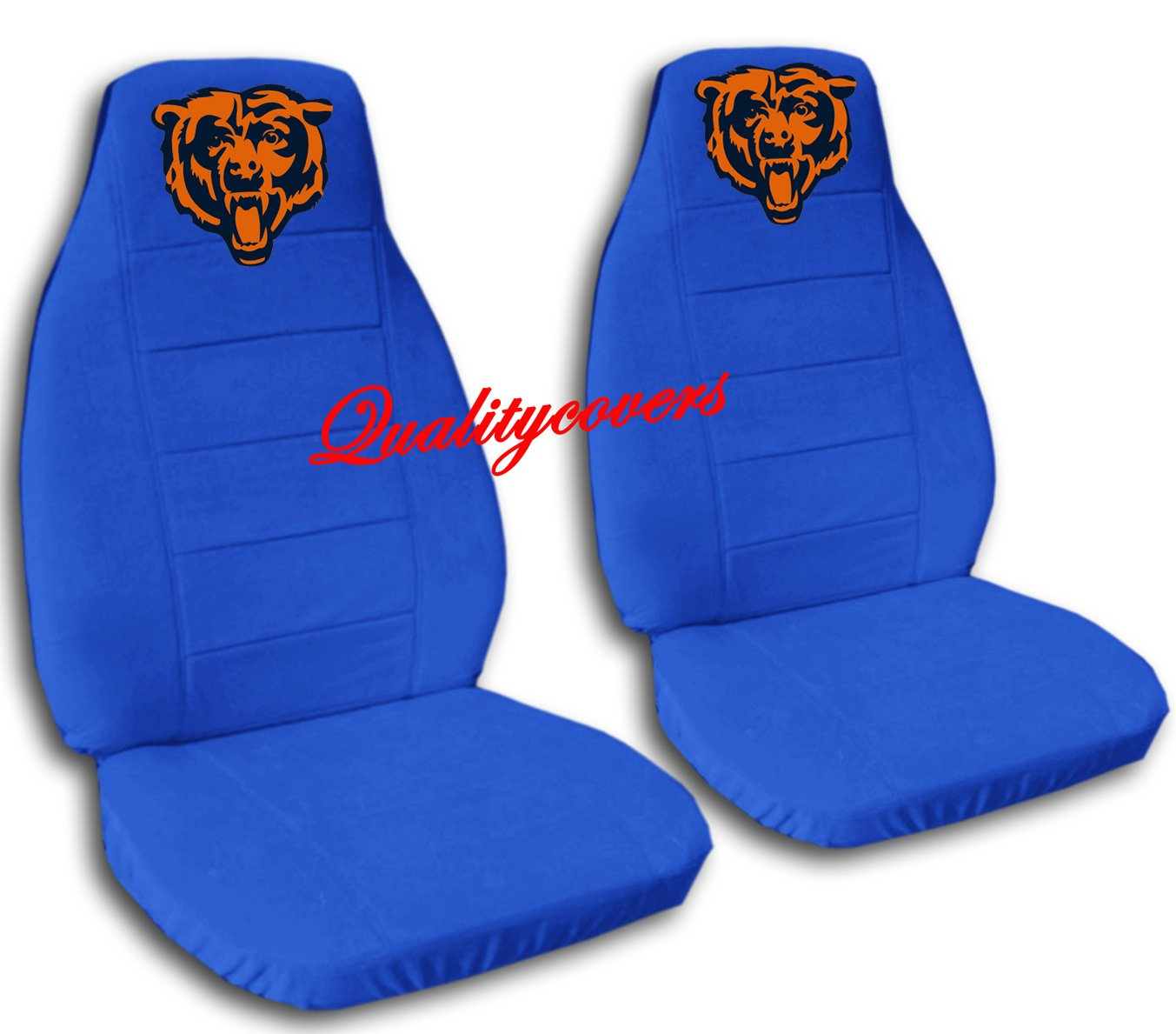 2 Medium Blue Chicago seat covers for a 2007 to 2012 Ford Fusion. Side airbag friendly.