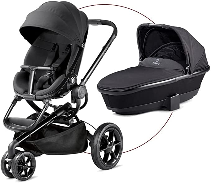 Quinny Moodd - Pushchair - Carrycot For Free - Black Devotion