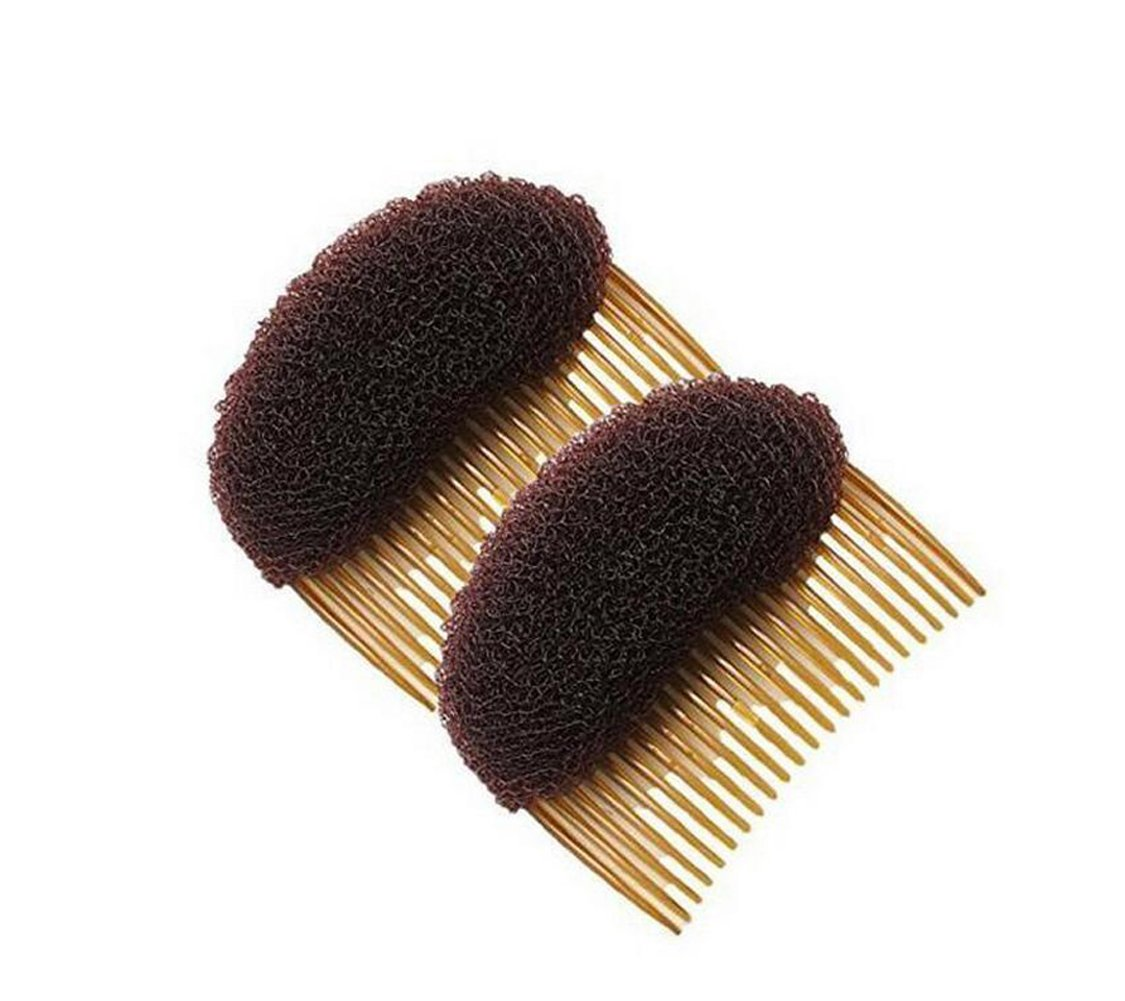 2PCS Long 3.3inch Hair Decoration Comb Sponge Foam Hair Volume Bump it up Insert Hair Base Styling Accessories Back Do Beehive Hair Styler Hair Increasing Tool (Black) Upstore