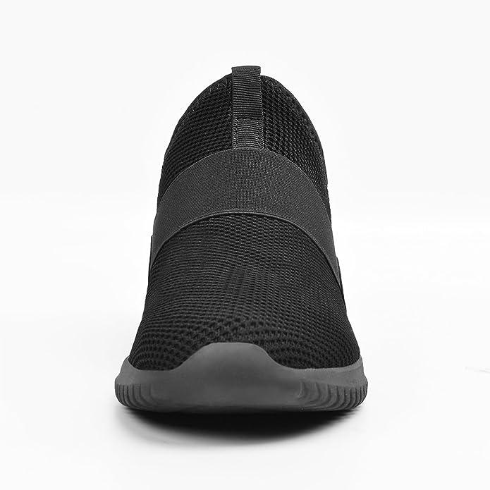 compra especial estilo moderno marca famosa qansi zapatillas running hombres sin cordones zapatos ...