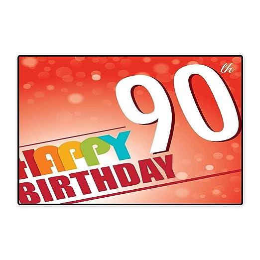 Alfombra para Puerta de 90 cumpleaños, diseño de Pop, Estilo ...