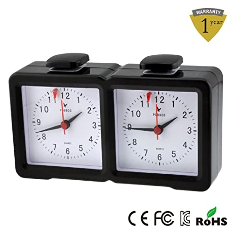 Erjing Reloj Analógico Digital de ajedrez/I-Go Reloj Multifunción Juego Reloj