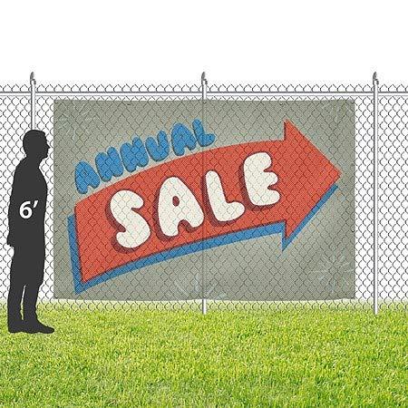 6x4 Christmas Sale Victorian Frame Wind-Resistant Outdoor Mesh Vinyl Banner CGSignLab