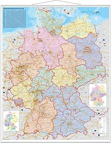 deutschlandkarte zum aufhängen Stiefel EUROCART Deutschlandkarte Deutschland Organisationskarte