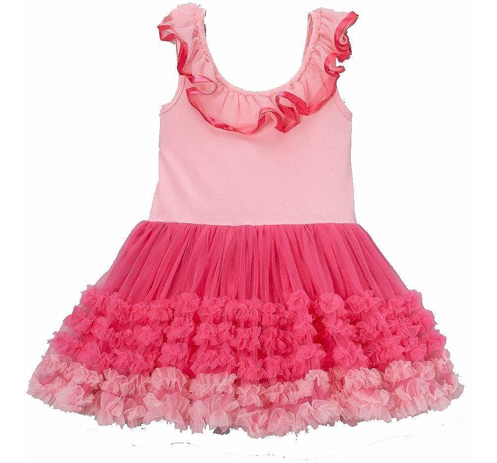 6092f48d28c7e Amazon.com: wenchoice Pink Ruffle Babydoll Dress Girl's S(1T-2T): Clothing