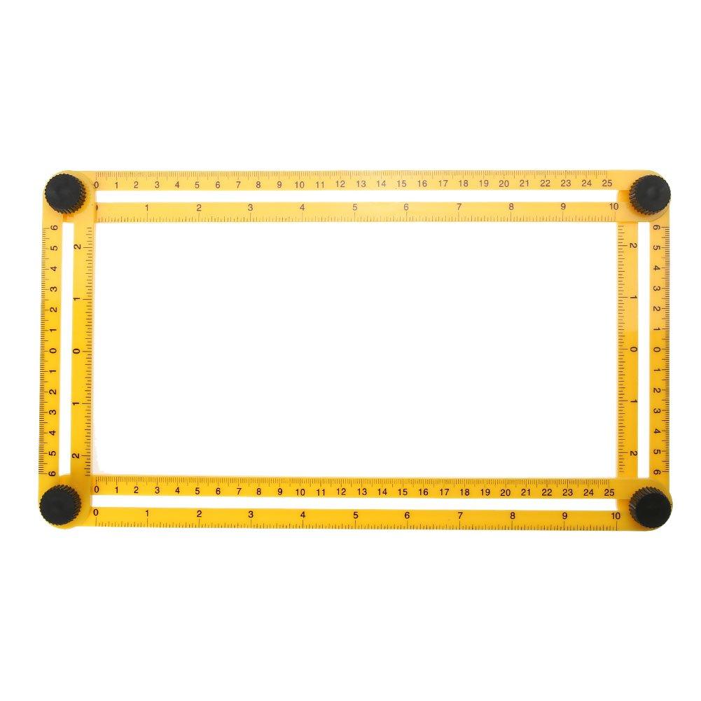 Everpert Instrument de mesure Modè le Outil 4 faces Rè gle Mé canisme diapositives
