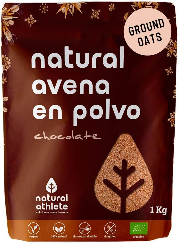 Harina de Avena Sabor Chocolate Natural Athlete, Sin Azúcar, Sin ...