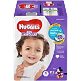 HUGGIES Little Movers Diapers, Size 4, 74 Count (Packaging May Vary)