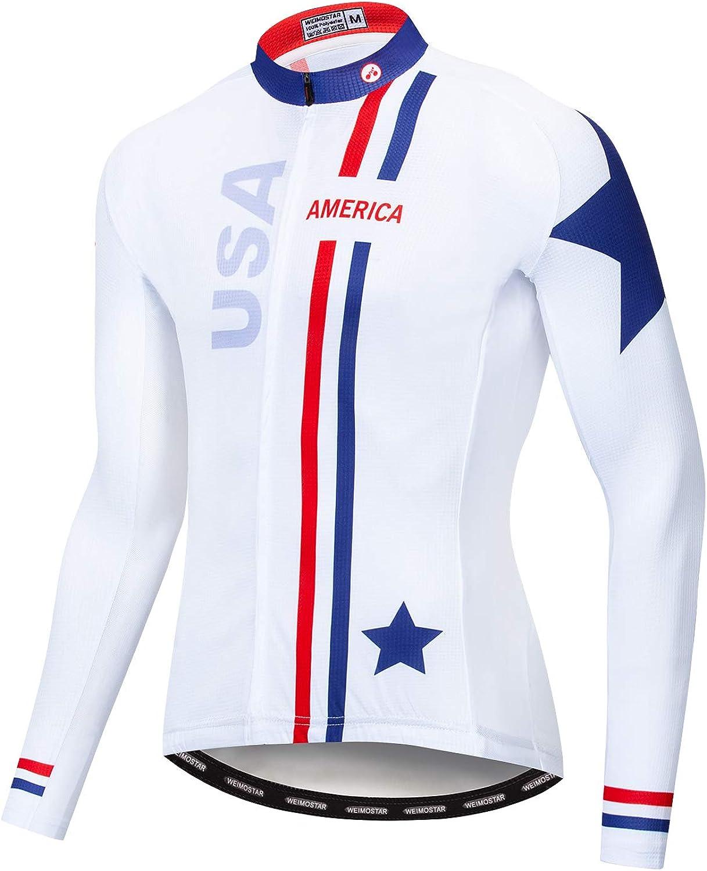 Cycling Jersey Sport Long Sleeve Racing Shirt Men/&Boys soft outdoor Windproof