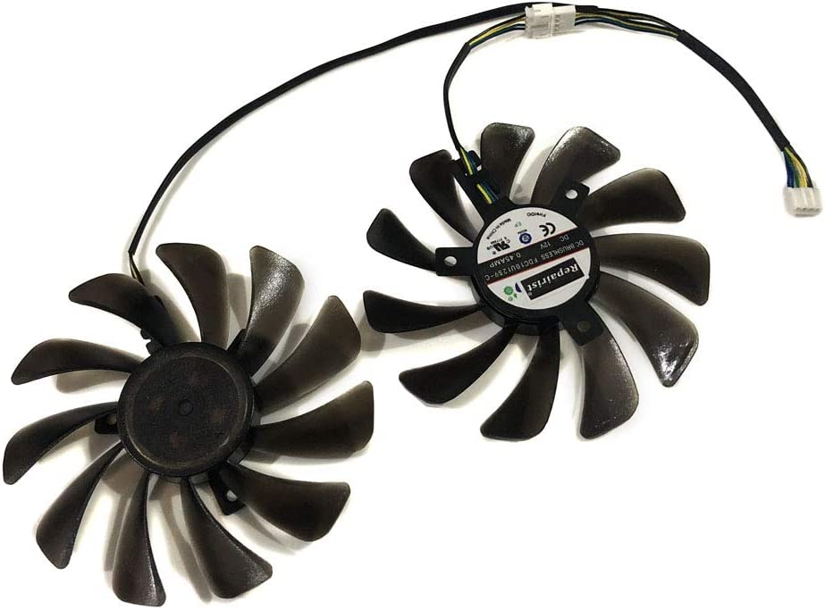 2pcs//set 95MM FDC10U12S9-C CF1010U12S XFX RX580 GPU Cooler Cooling Fan For HIS RX 580 Grahics Card VGA Replacement
