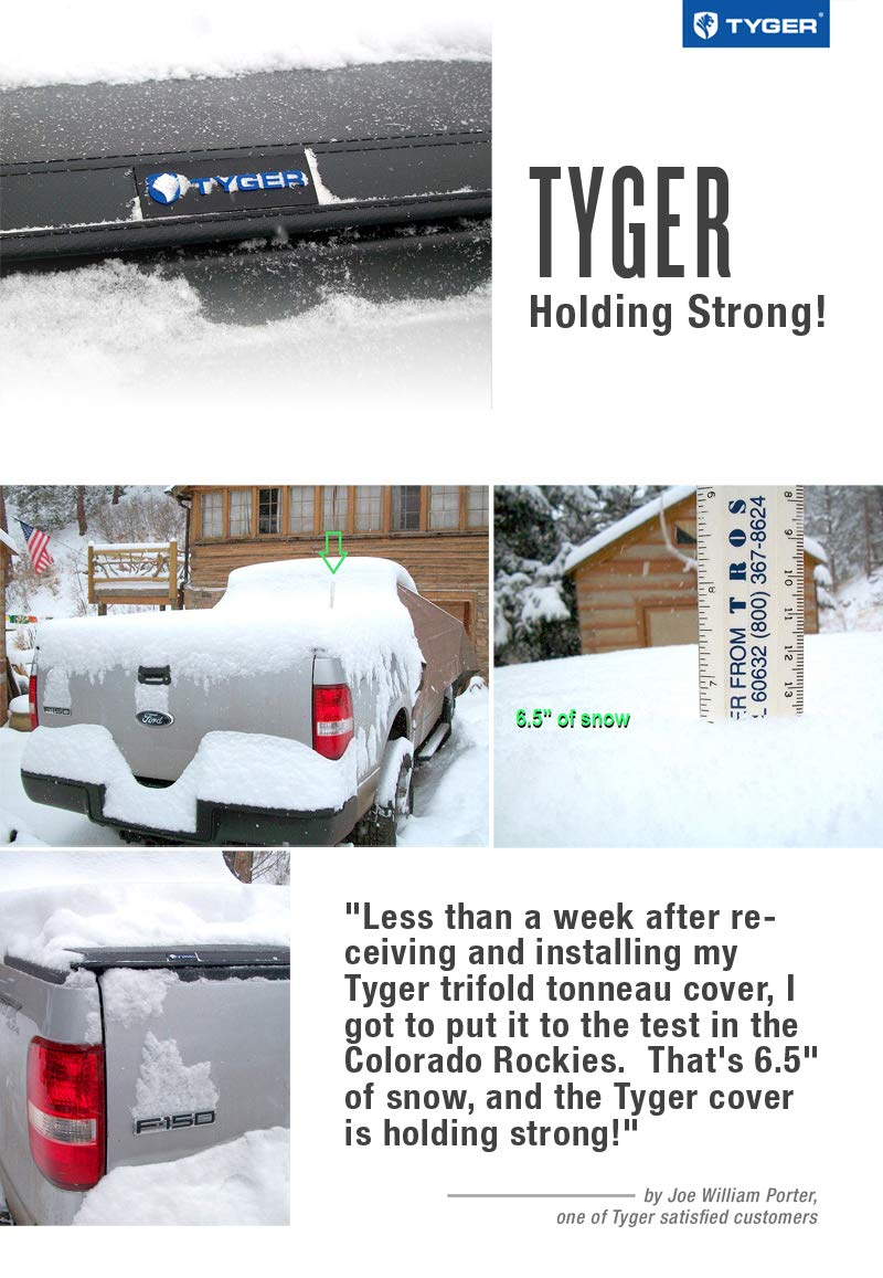 Tyger Auto T3 Tri-Fold Truck Tonneau Cover TG-BC3F1043 Works with 2015-2019 Ford F-150 | Styleside 8' Bed by Tyger Auto (Image #7)