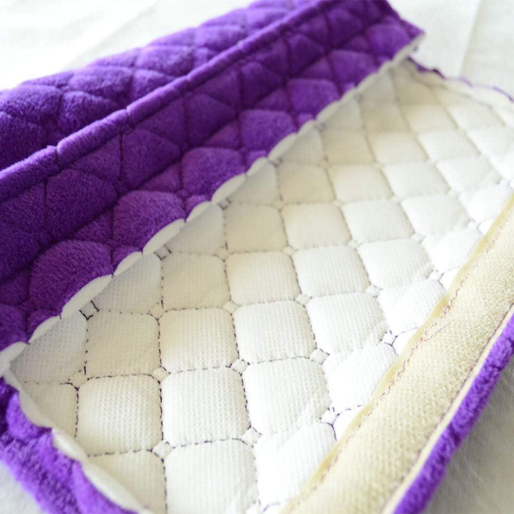 color beige qhtongliuhewu 2 almohadillas para cintur/ón de seguridad para hombro de tela de felpa gruesa para protecci/ón universal para el coche