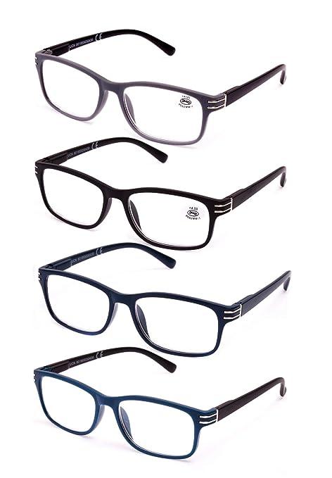 d6cd54152c Pack de 4 Gafas de Lectura Vista Cansada Presbicia, Graduadas Dioptrías  +1.00 hasta +