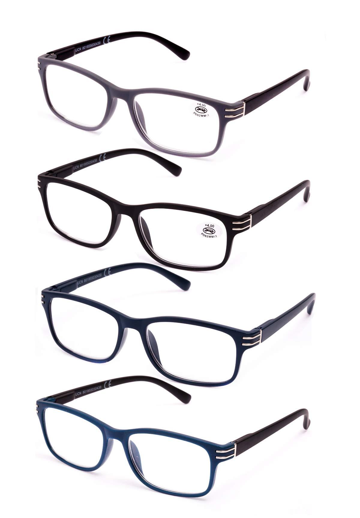 917f5760b6 Pack de 4 Gafas de Lectura Vista Cansada Presbicia, Graduadas Dioptrías  +1.00 hasta +