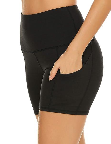 ZHENWEI Womens Shorts Yoga Workout Athletic Exercise Gym Shorts with Pockets