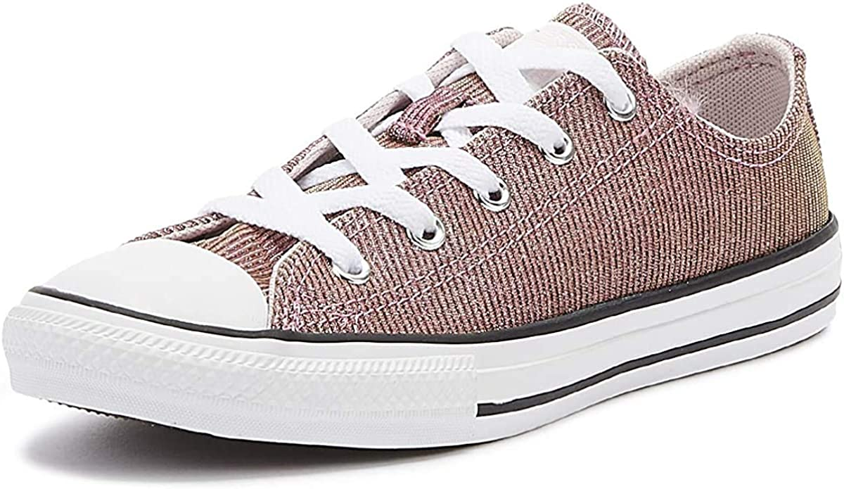 Converse Chuck Taylor All Star K Textile Royal, Chaussures mixte enfant Barely Rose Argent Blanc