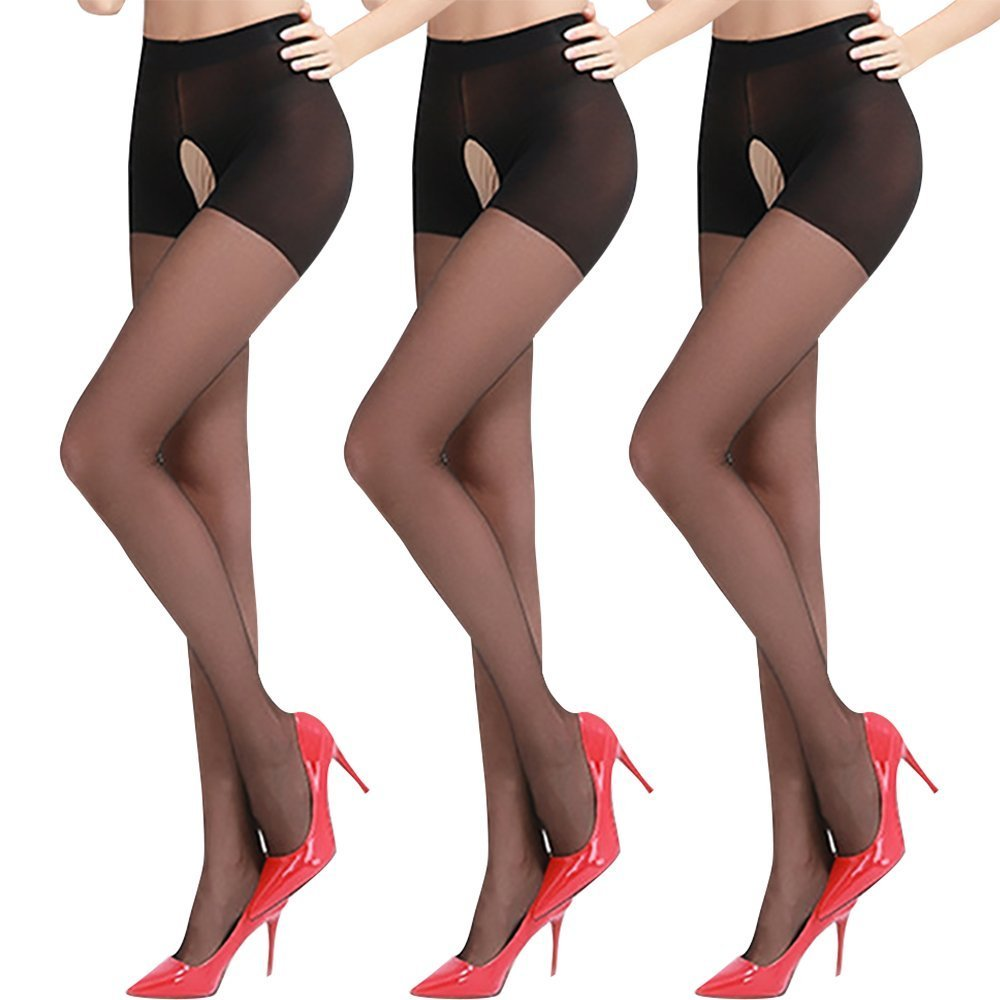 d00cca51e3561 STYLE:Crotchless closed top pantyhose ♥ FEATURE:Sheer push-up the buttocks  and satin touch Gloss Effect ♥ One size fits most.Fit: height  59-70inch,weight ...
