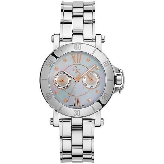 GC X74012L1S - Reloj para mujeres, correa de acero inoxidable color plateado