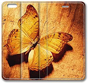 Brown Butterfly Leather Case for iPhone 6