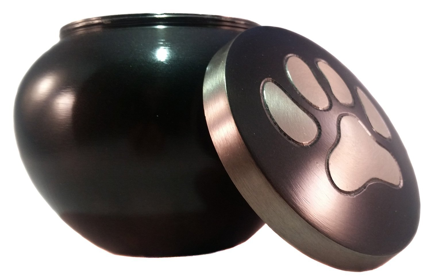 Paw Print Pet Urn for Your Loving Dog or Cat Ashes, Finished in a Brushed Slate … by Restful Pet Urns