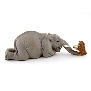 Top Collection Miniature Garden Elephant Reading Book with Owl