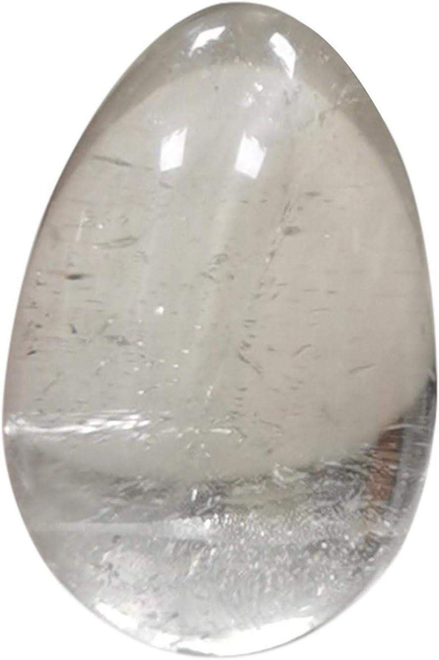 Cristales en forma de huevo - Piedras preciosas de simulación de huevo pensante Chakra Piedra curativa Equilibrio para adornos de decoración de yoga (100 g)