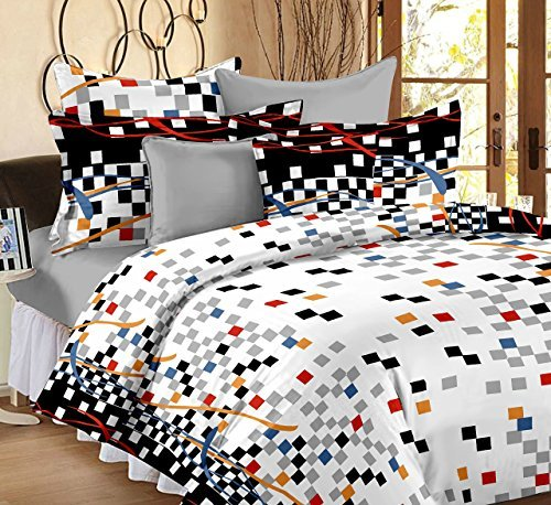 Ahmedabad Cotton Printed 160 TC Cotton Double Bedsheet with 2 Pillow Covers – Multicolour