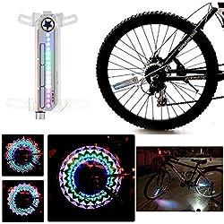 Soondar Bike Bicycle Colorful Rainbow LED Wheel Signal Light Lamp 16 LED 32 Pattern