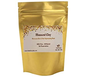 Rhassoul Clay - Ghassoul Clay 1 Lb - Moroccan Lava Clay - Detoxifying and Rejuvenating clay by SaaQin