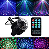 Party Lights 3W Disco Ball Lights Dj Light LED Stage Light 7 Colors Sound Activated Strobe Light Portable Stage Lights for Party Birthday KTV Bar Wedding Holiday Pub Festival