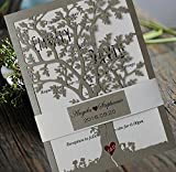 Loving Tree Wedding Invitations, Bridal Shower Invitation Cards, Printable Silver Wedding Invitation Card - Set of 50