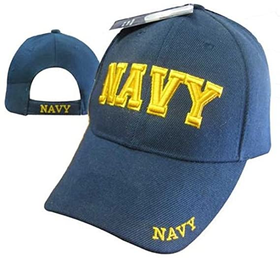 61b50632d8a AES U.S. Navy Blue and Gold Letters Ball Cap Baseball Embroidered Licensed