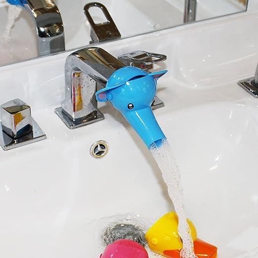 Kinder Cartoon Wasserrutsche Hahn Extender Badezimmer Zubehör, Machen Sie  Ihre Kinder Liebe Handwashing (Blue Elephant): Amazon.de: Küche U0026 Haushalt