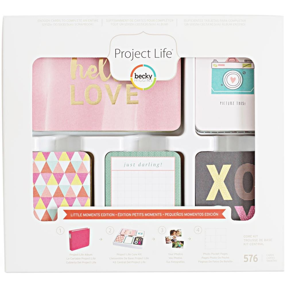 Project Life Core Kit Core Edition-Little Moments-Gold Foil (576 Pieces) by Project Life
