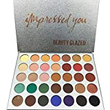 Shimmer Eyeshadow Palette HUBEE Tone Eye Shadow Make-up Set Natural Warm and Earth Combination (35 Colors/Set)