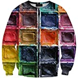 ABCHIC Big Girls' Printed Paint Box Sweatshirt Crew Neck Pullover Long Sleeve Fit For Over 14 Years Old Women