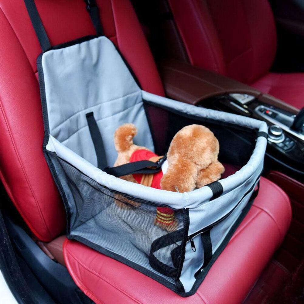 JOAN DOMINGUEZ Footprint Print Anti Slip Waterproof Folding Safety Dog Carriers Dog Pet Car Seat Cover Pet Car Mats Hammock Cushion Pink