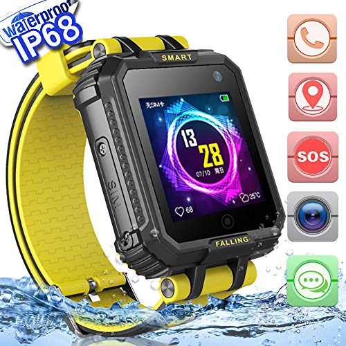 2019 UPGRADES Waterproof Kids Smart Watch Phone GPS Tracker for Boys Girls Christmas Gifts Game Watch with 1.54