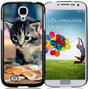 New Personalized Custom Designed For Samsung Galaxy S4 I9500 i337 M919 i545 r970 l720 Phone Case For Black Tabby Cat Kitten Phone Case Cover